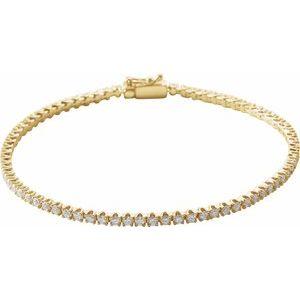 "14K Yellow 2 CTW Diamond Line 7"" Bracelet"