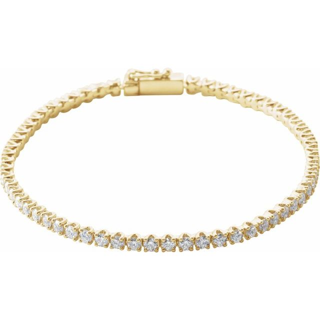"14K Yellow 3 CTW Diamond Line 7"" Bracelet"