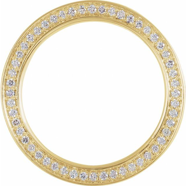 14K Yellow 6 mm 3/4 CTW Diamond Band with Satin Finish Size 10