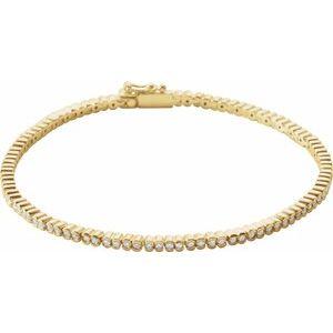 "14K Yellow 1 CTW Diamond Line 7"" Bracelet"