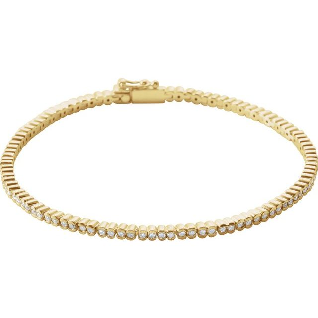 "14K Yellow 1 CTW Diamond Line 7"" Bracelet"