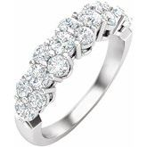 14K White 1 CTW Lab-Grown Diamond Anniversary Band
