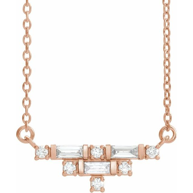 14K Rose 1/4 CTW Diamond Art Deco 18
