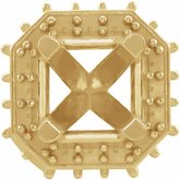 Asscher 4-Prong Halo-Style Peg Head Setting