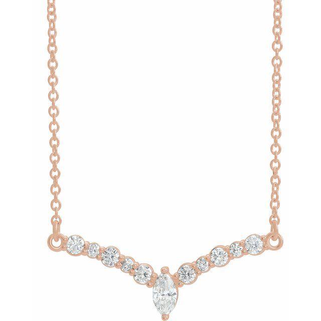 14K Rose 1/3 CTW Diamond 18