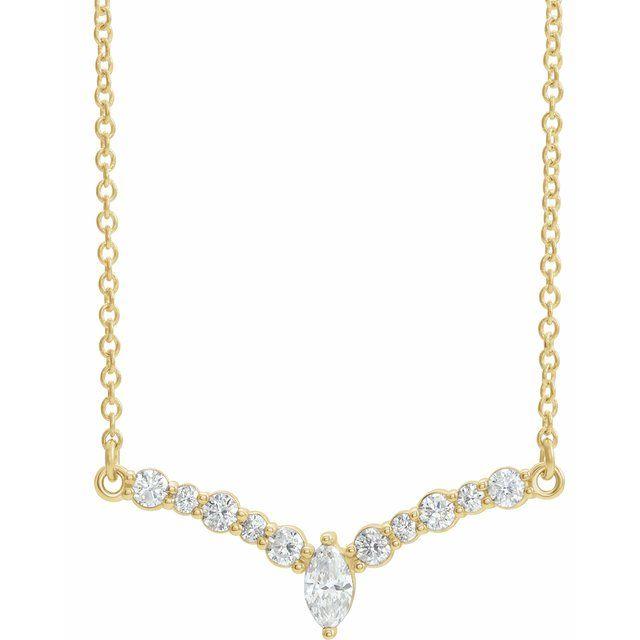 14K Yellow 1/3 CTW Diamond 18