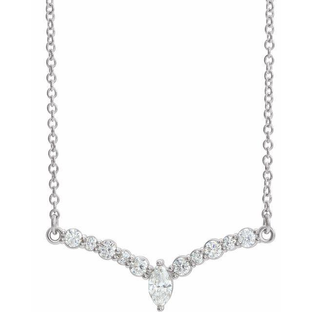 14K White 1/3 CTW Diamond 18