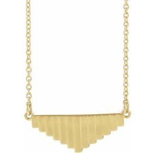 "14K Yellow 16"" Geometric Necklace"