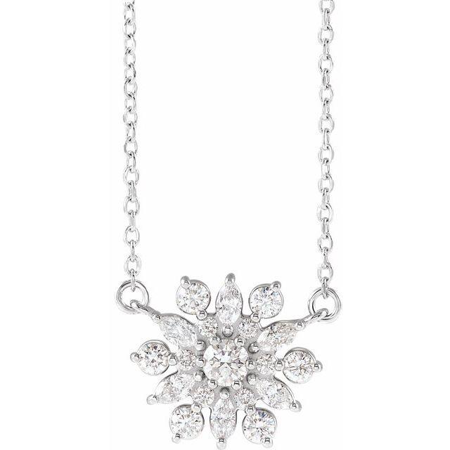14K White 1/2 CTW Diamond Vintage-Inspired 18
