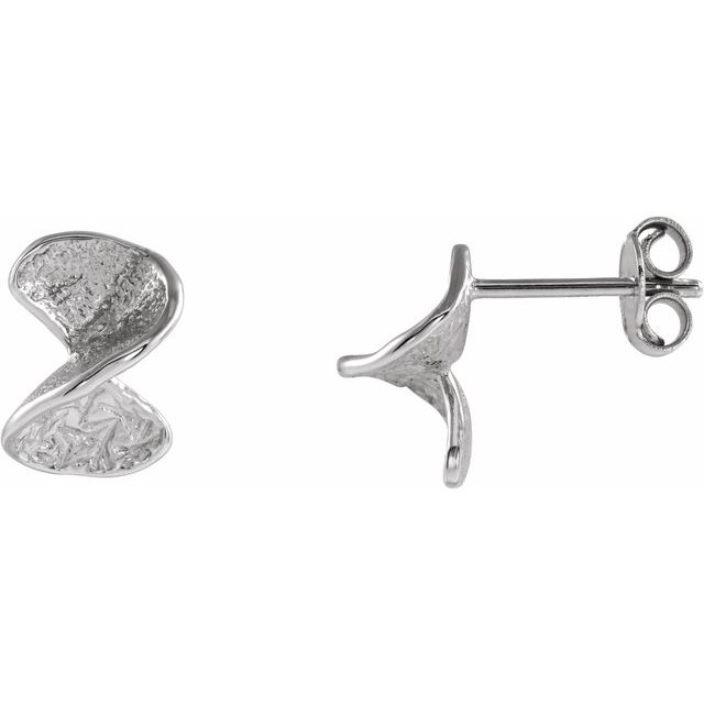 Sterling Silver Twisted Stud Earrings with Backs