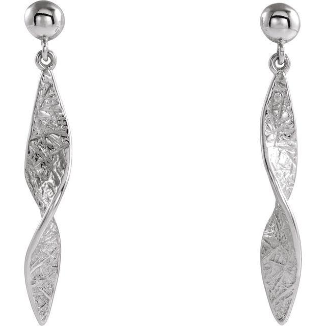 Sterling Silver Twisted Dangle Earrings