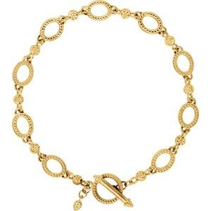 "14K Yellow Metal Fashion 7.5"" Bracelet"