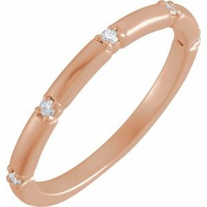 14K Rose .07 CTW Diamond Five-Stone Anniversary Band