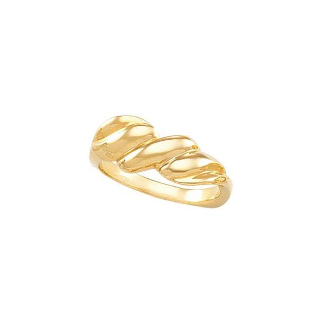 10K Yellow Metal Fashion Ring