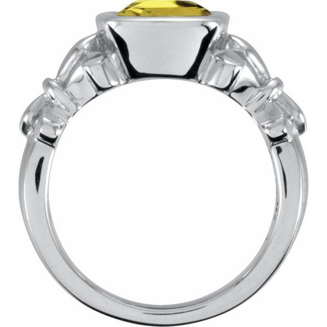Sterling Silver Yellow Quartz Ring