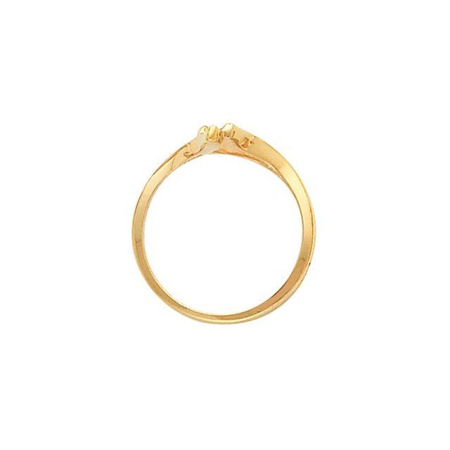 14K White 14 mm Freeform Remount Ring