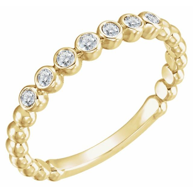 14K Yellow 1/6 CTW Diamond Stackable Ring