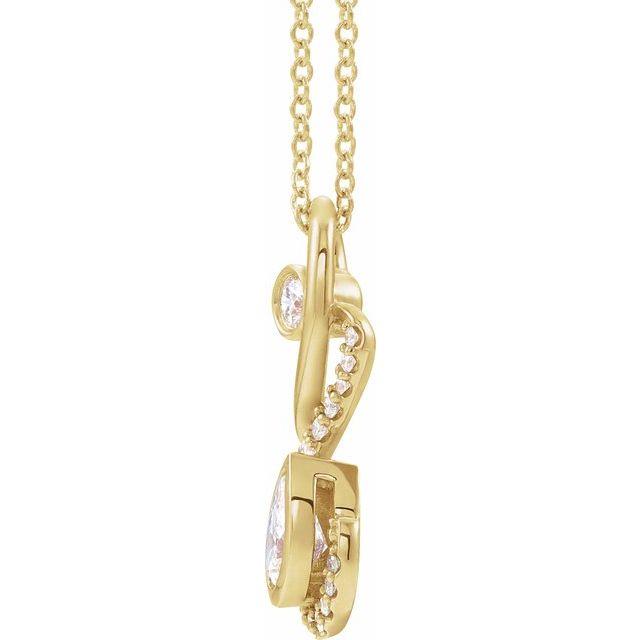 14K Yellow 1/2 CTW Diamond Freeform Necklace