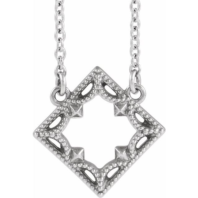 Sterling Silver Vintage-Inspired Geometric 18