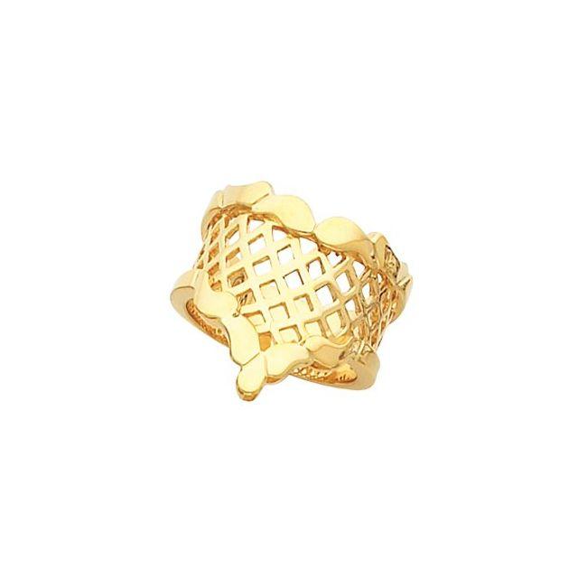 14K Yellow Latticework Ring