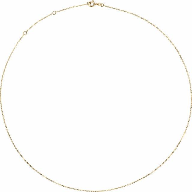 10K Yellow 1 mm Adjustable Diamond-Cut Cable 16-18