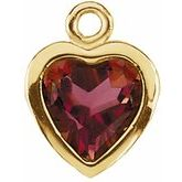 Heart Filigree Back-Set Bezel Dangle