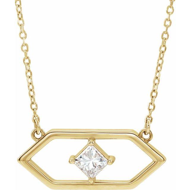 14K Yellow 1/4 CTW Diamond Geometric 18