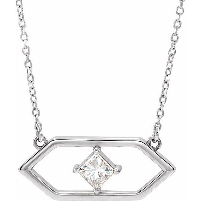 14K White 1/4 CTW Diamond Geometric 18