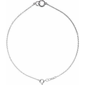 Platinum Interlocking Circle Bracelet