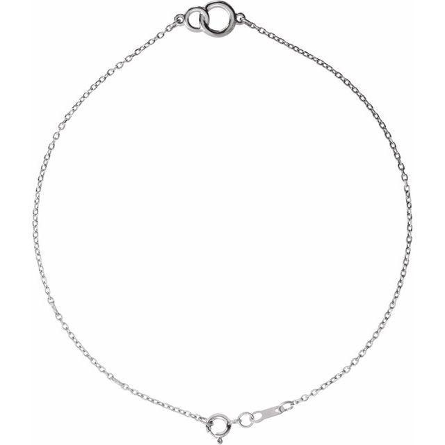 14K White Interlocking Circle Bracelet