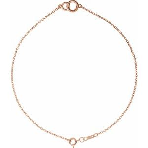 14K Rose Interlocking Circle Bracelet