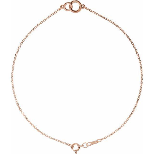 14K Rose Interlocking Circle Bracelet