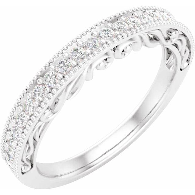 14K White 1/6 CTW Diamond Matching Band