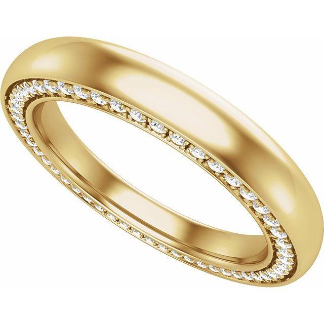 14K Yellow 3 mm 1/2 CTW Diamond Band Size 7