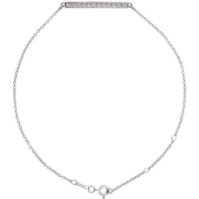 Sterling Silver Patterned Bar Bracelet