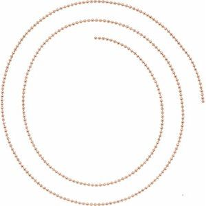 14K Rose 1 mm Bead Chain By the Inch
