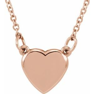 "14K Rose Heart 18"" Necklace"