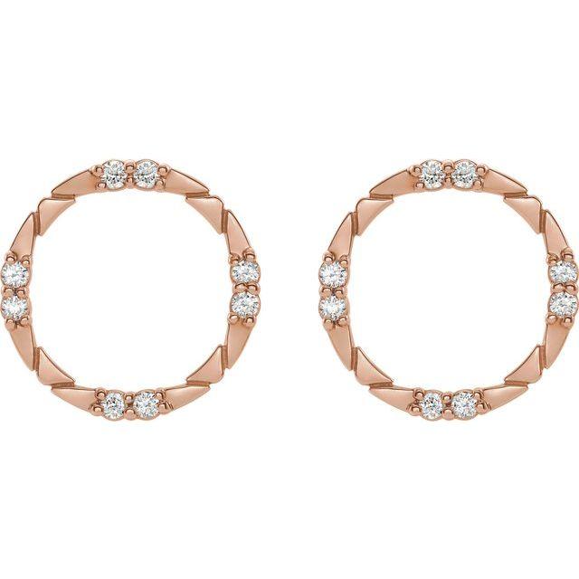 14K Rose 1/5 CTW Diamond Geometric Earrings