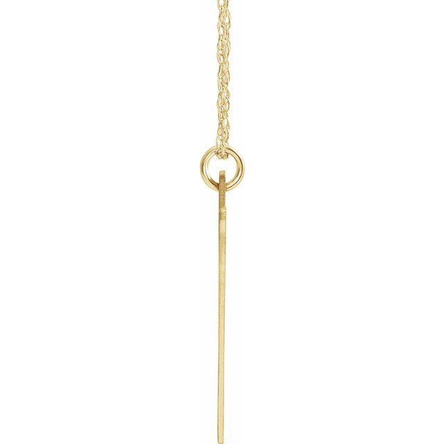 14K Yellow Gold-Plated Sterling Silver Block Initial V 16-18
