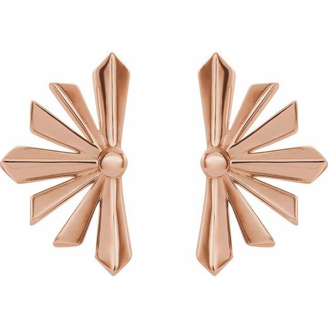 14K Rose Starburst Earrings