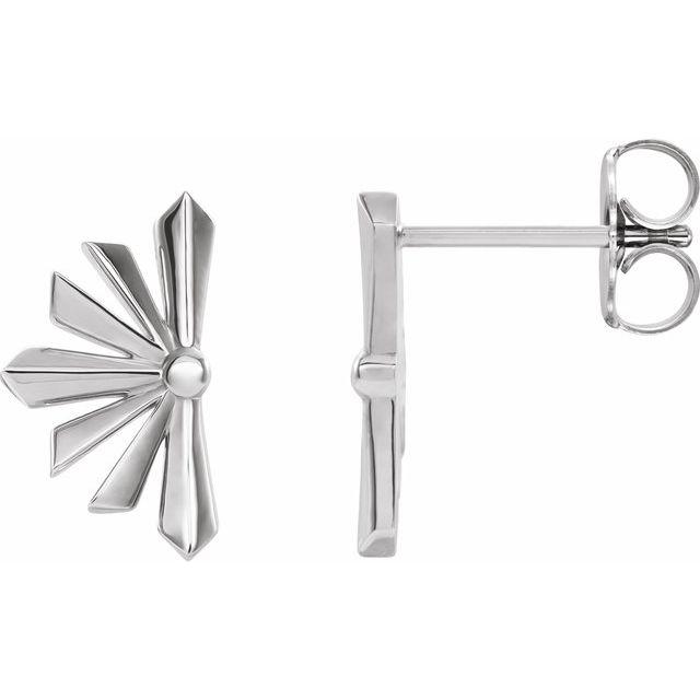 Sterling Silver Starburst Earrings