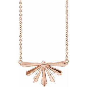 """14K Rose Starburst 18"""" Necklace"""