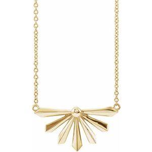 "14K Yellow Starburst 16"" Necklace"