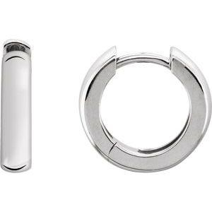Sterling Silver 38.75mm Hinged Hoop Earrings