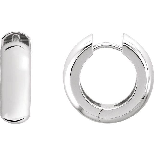Sterling Silver 29mm Hinged Hoop Earrings