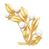 Leaf Brooch for Pearl