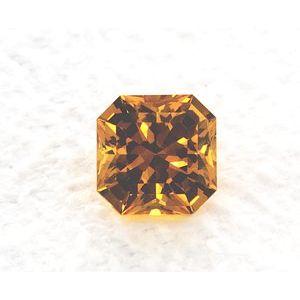 Sapphire Asscher 1.28 carat Yellow Photo