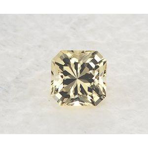 Sapphire Asscher 0.86 carat Yellow Photo