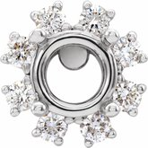 Round 4-Prong Halo-Style Earring Setting
