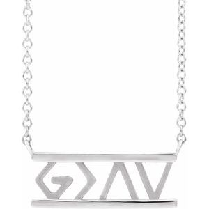 "Sterling Silver God is Greater than the Highs & Lows 16"" Necklace"